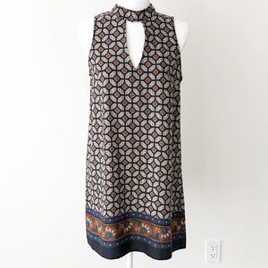 4/$20 🌴 Soprano   High Neck Cutout Shift Dress